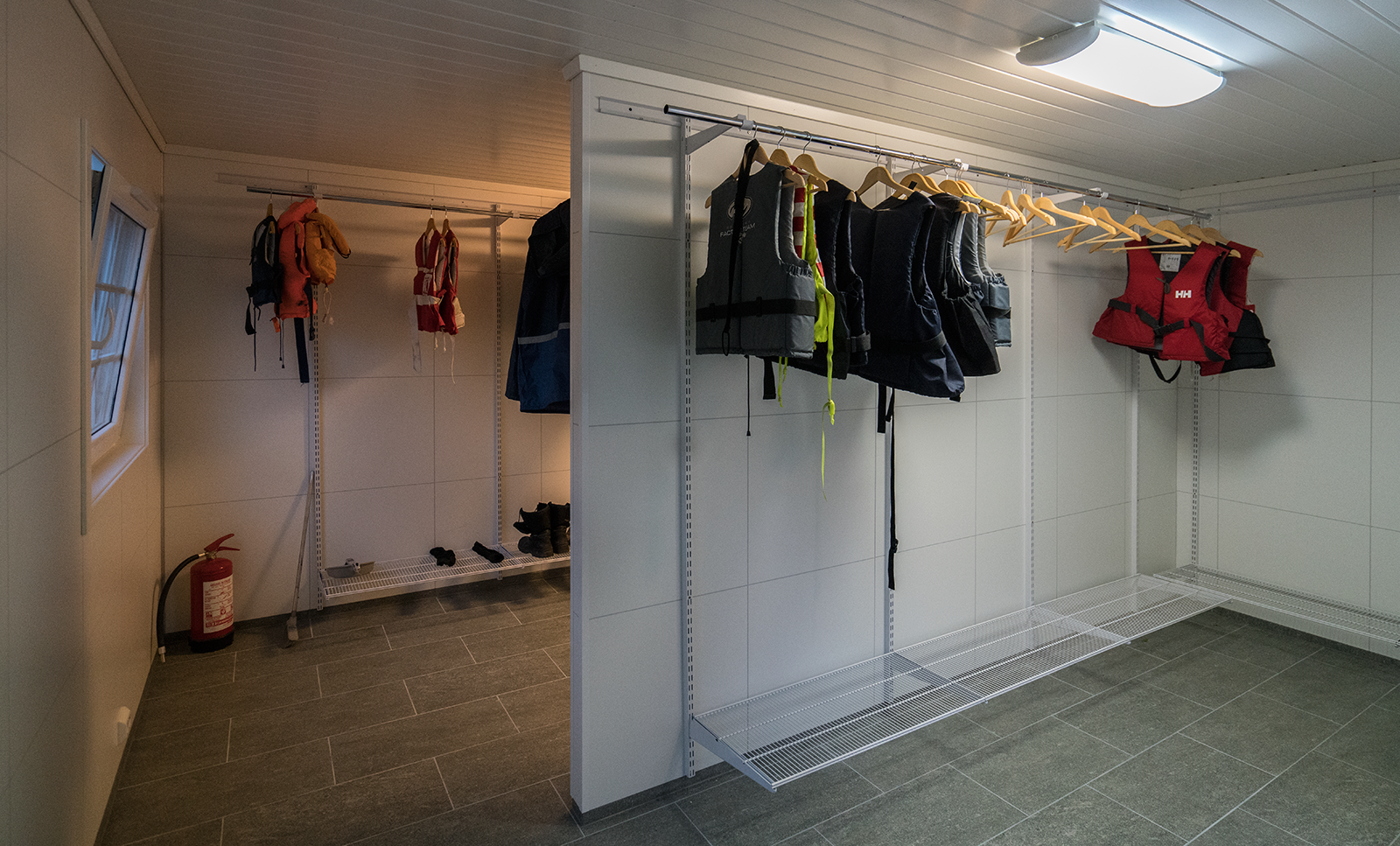New drying room for work clothes